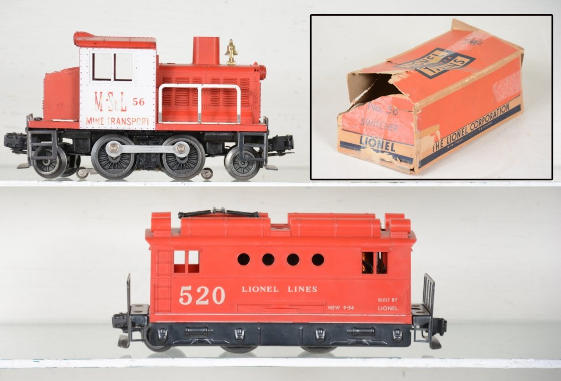 Boxed Lionel 56 & 520 locos