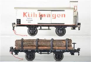 2 Nice Marklin 24cm Freight Cars