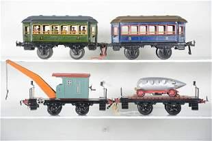4 Krauss 21cm Railroad Cars