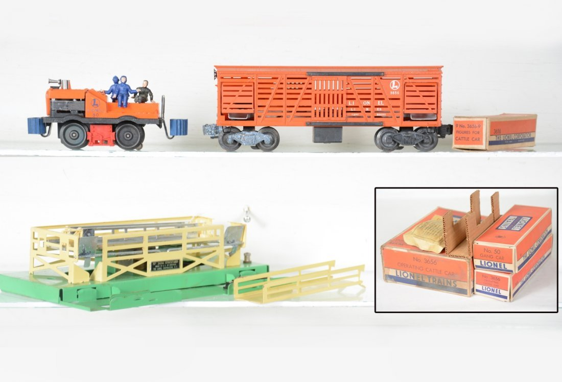 Clean Boxed Lionel 3656 & 50