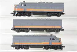Custom Painted Lionel 2378 F3 ABA Diesels