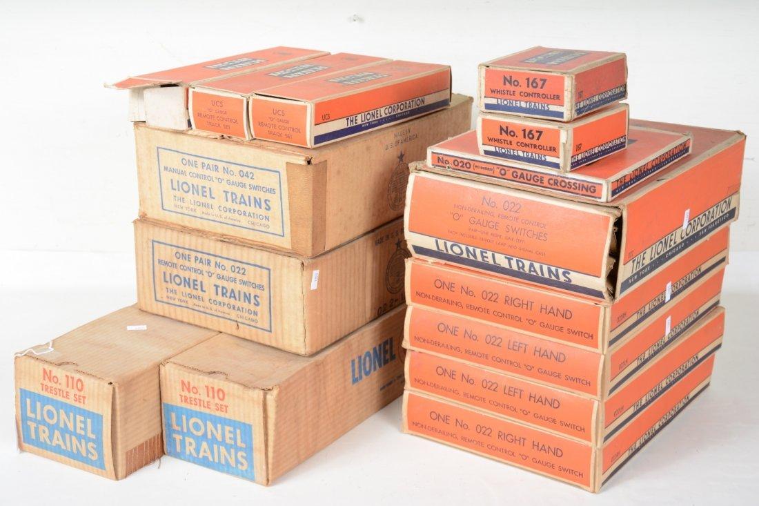 Boxed Lionel Track & Accessory Lot