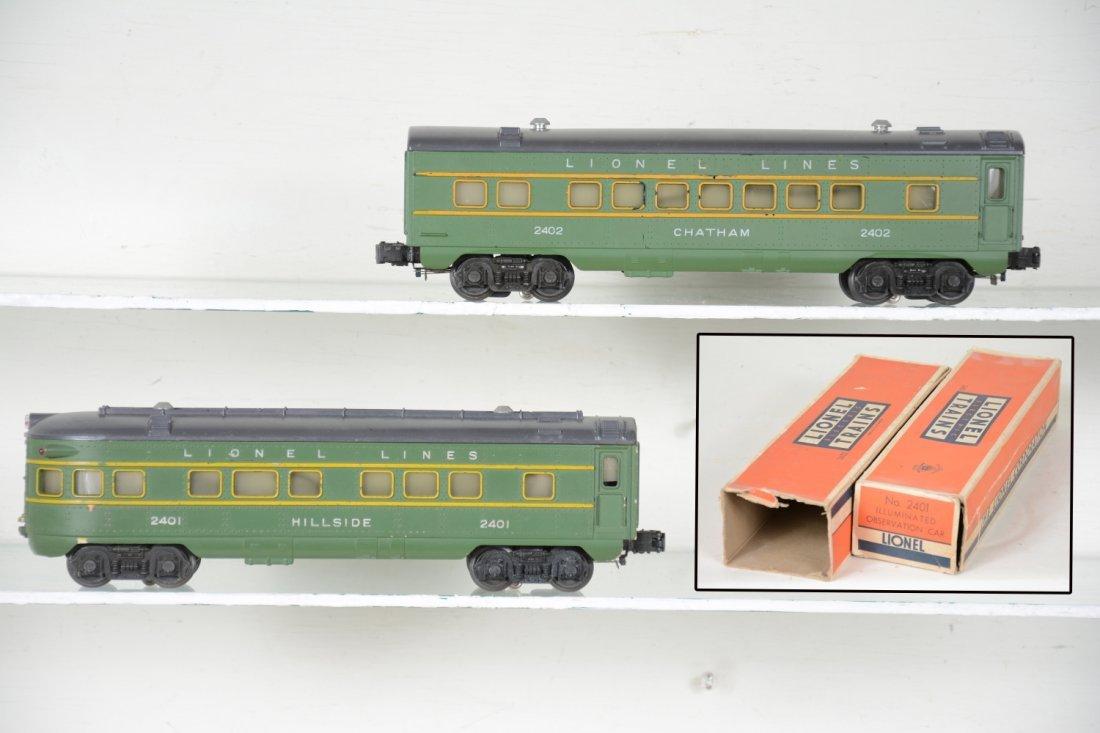 Boxed Lionel 2402 & 2401 Passenger Cars