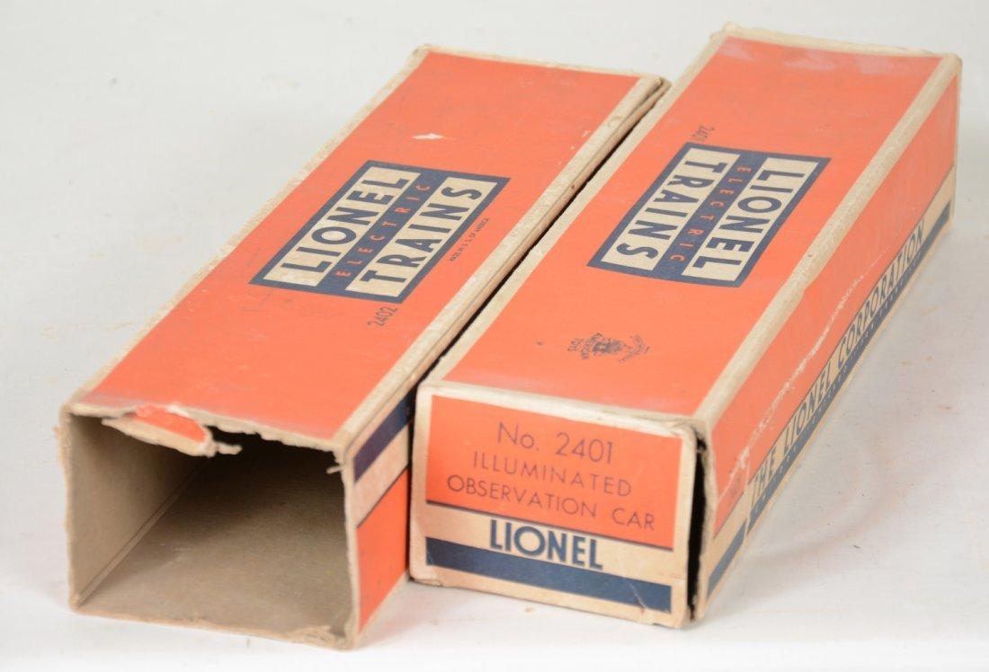 Boxed Lionel 2402 & 2401 Passenger Cars - 2