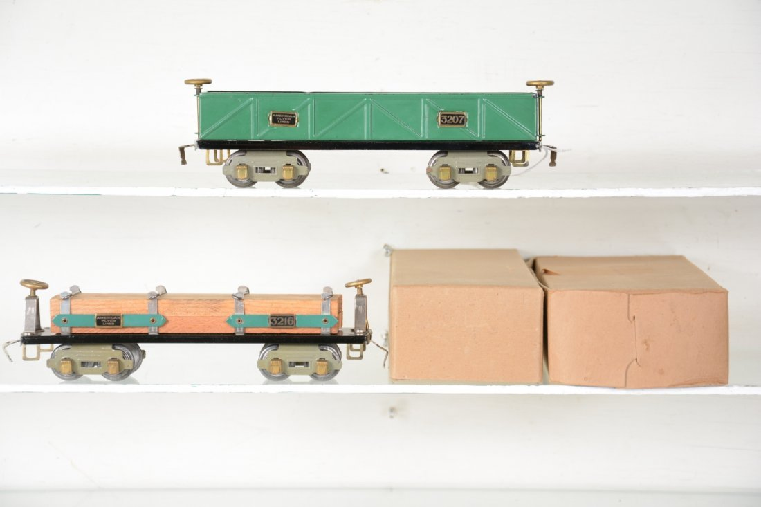 2 Clean Boxed American Flyer O Freight Cars