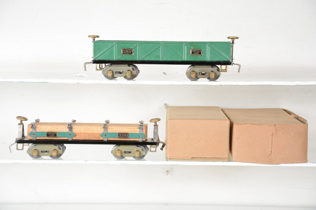 2 Clean Boxed American Flyer O Freight Cars - 2