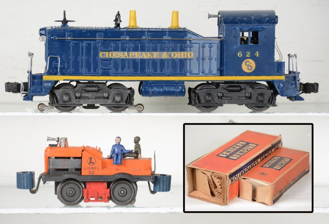 Boxed Lionel 50 & 624 Powered Units