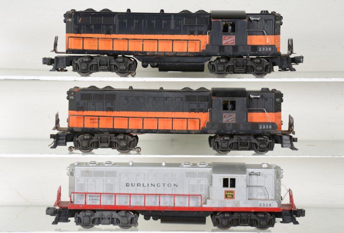 3 Lionel GP7 Diesels