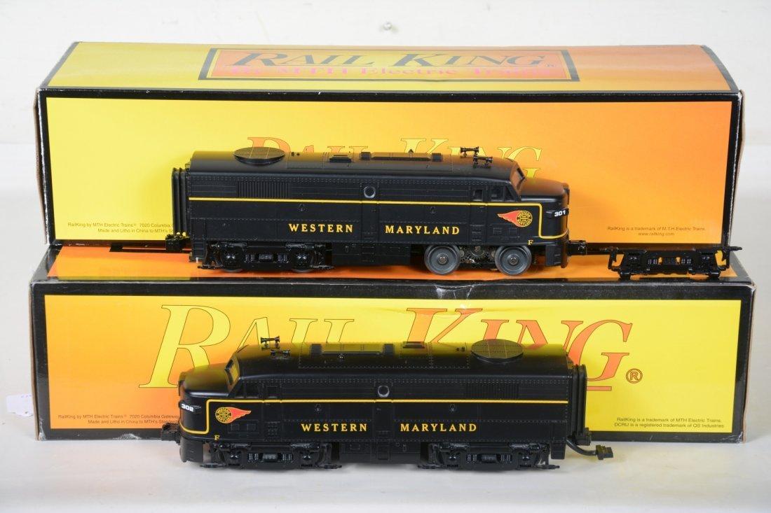 MTH RailKing 30-2475-1 & -3 WM FA2 ABA Diesels