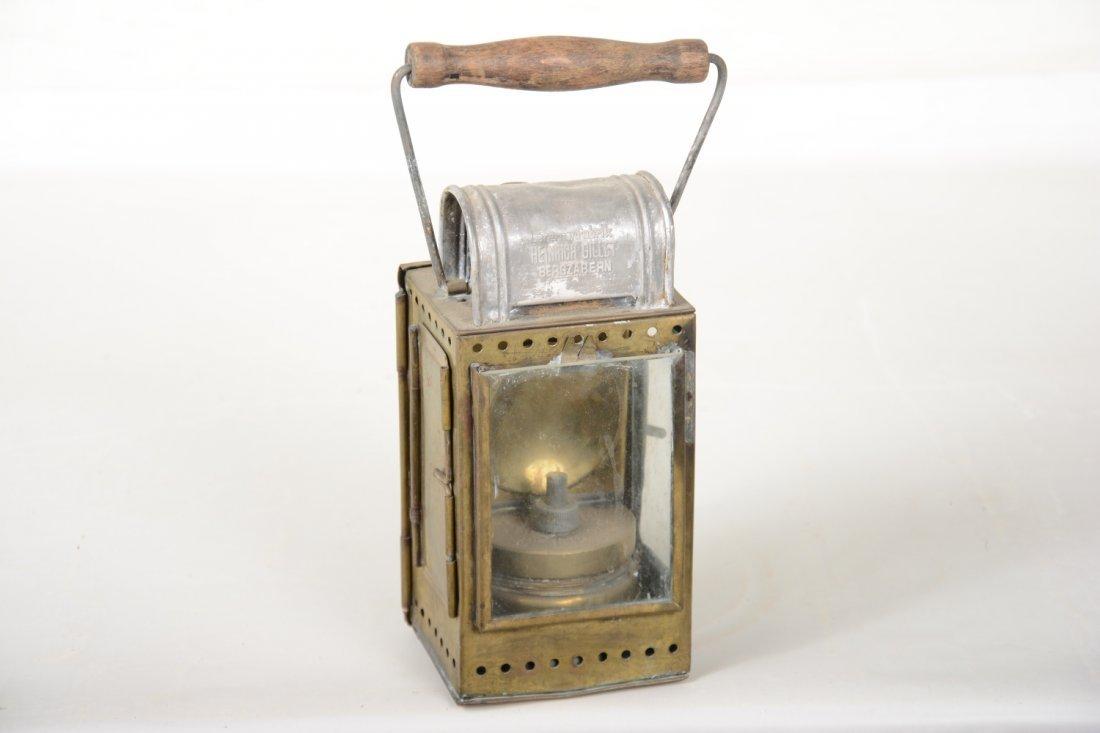 Scarce Brass German RR Lantern with Swastika