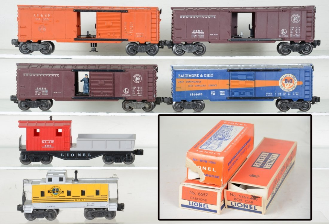 Lionel Freight Cars, 3 Boxed