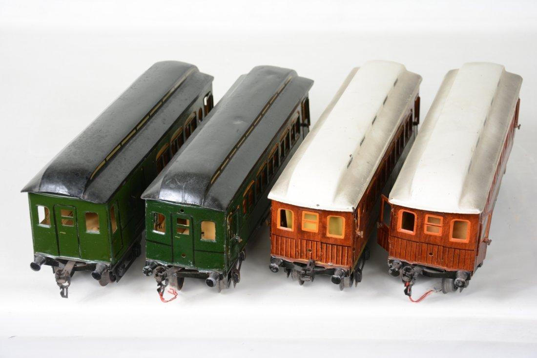 4 Matching Marklin Passenger Cars - 3