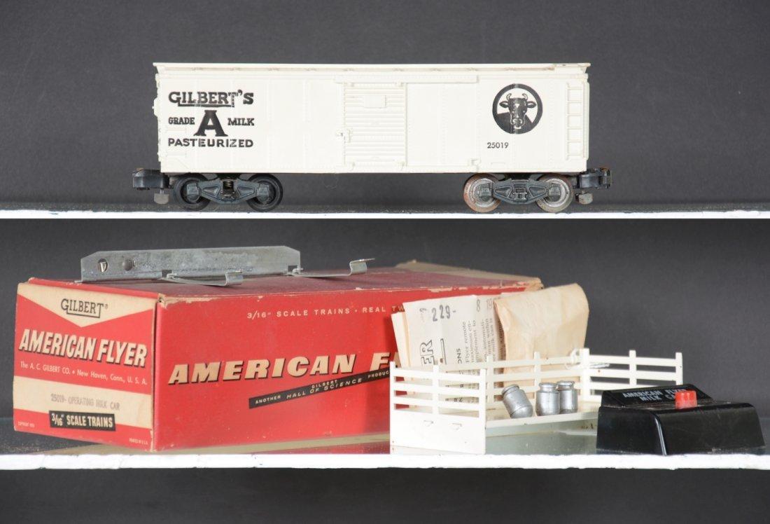 Boxed American Flyer 25019 Milk Car Set