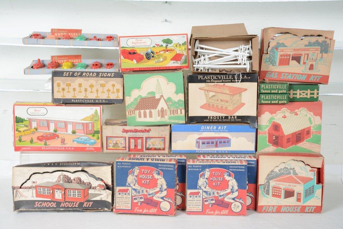 Boxed Plasticville Lot, Plus