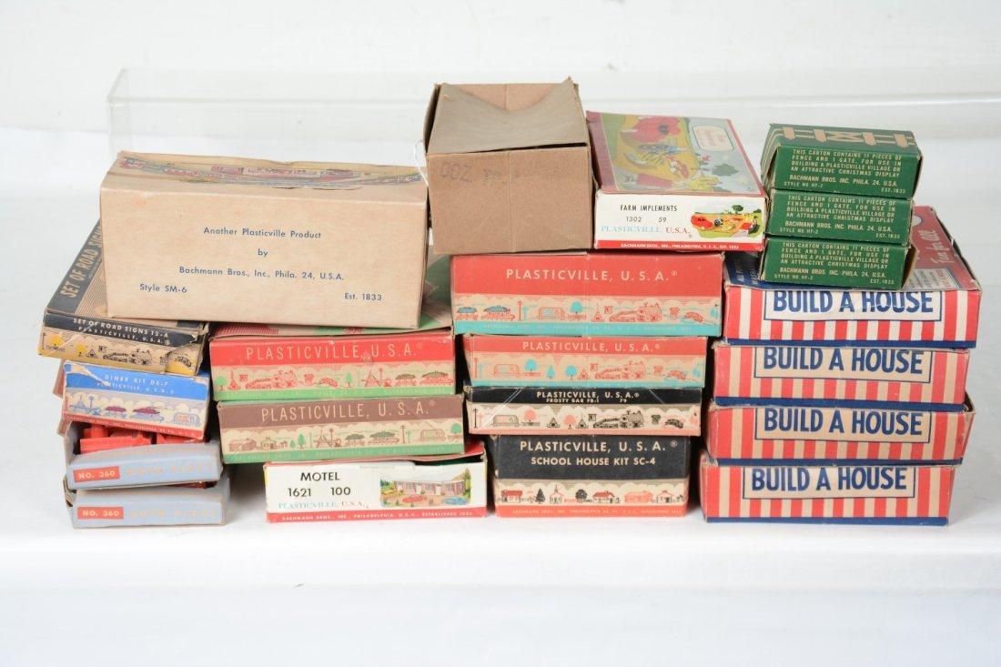 Boxed Plasticville Lot, Plus - 3