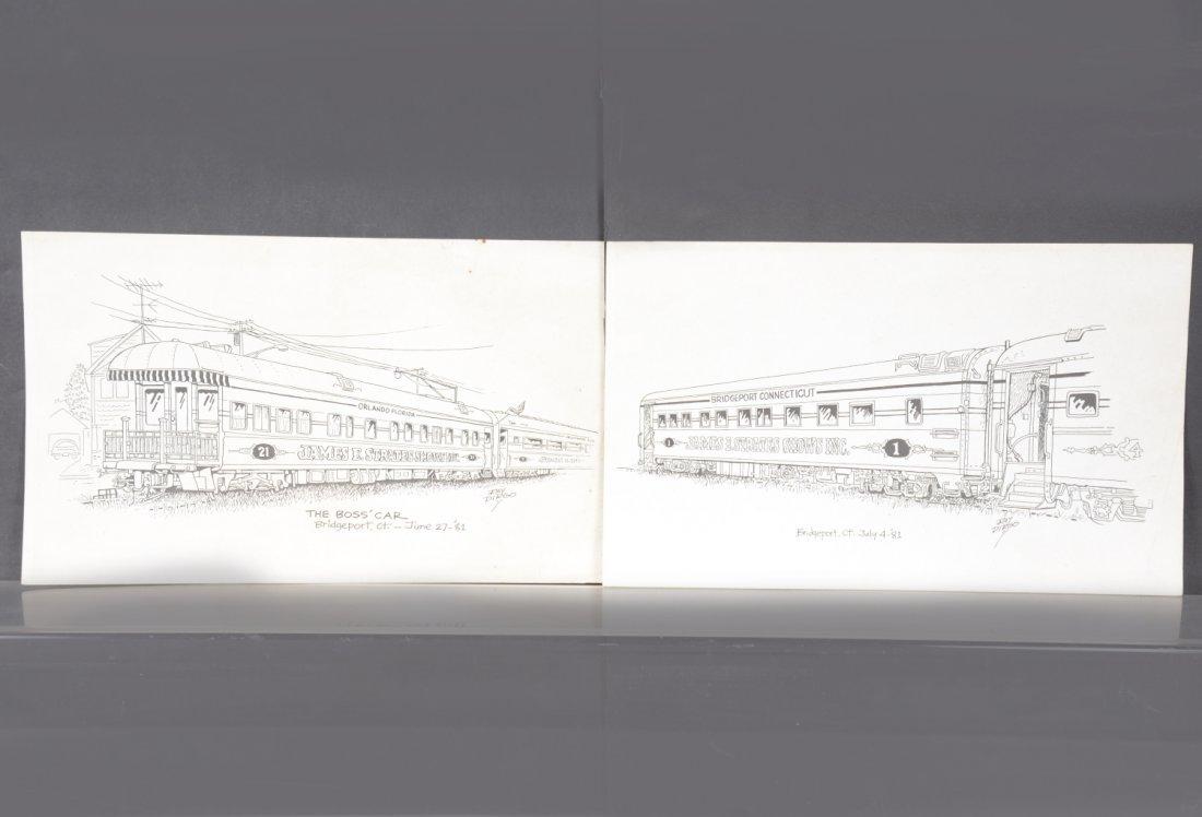 Original Ray Dirgo Pen & Ink Circus Art