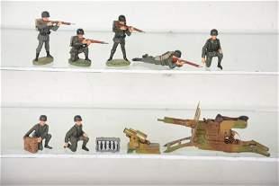Super Elastolin Soldiers & Cap Firing Gun