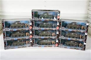 10 M4A3 Battery Operated Tank Sets, 1:32