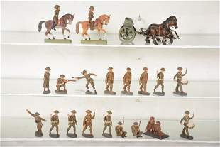 Nice Elastolin British Army Composition Soldiers