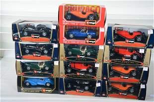 13 Burago 1:24 Scale Vehicles