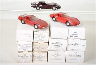 12 Different AMT Corvette Promo Cars
