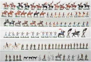 Large Group Small Vintage Soldiers