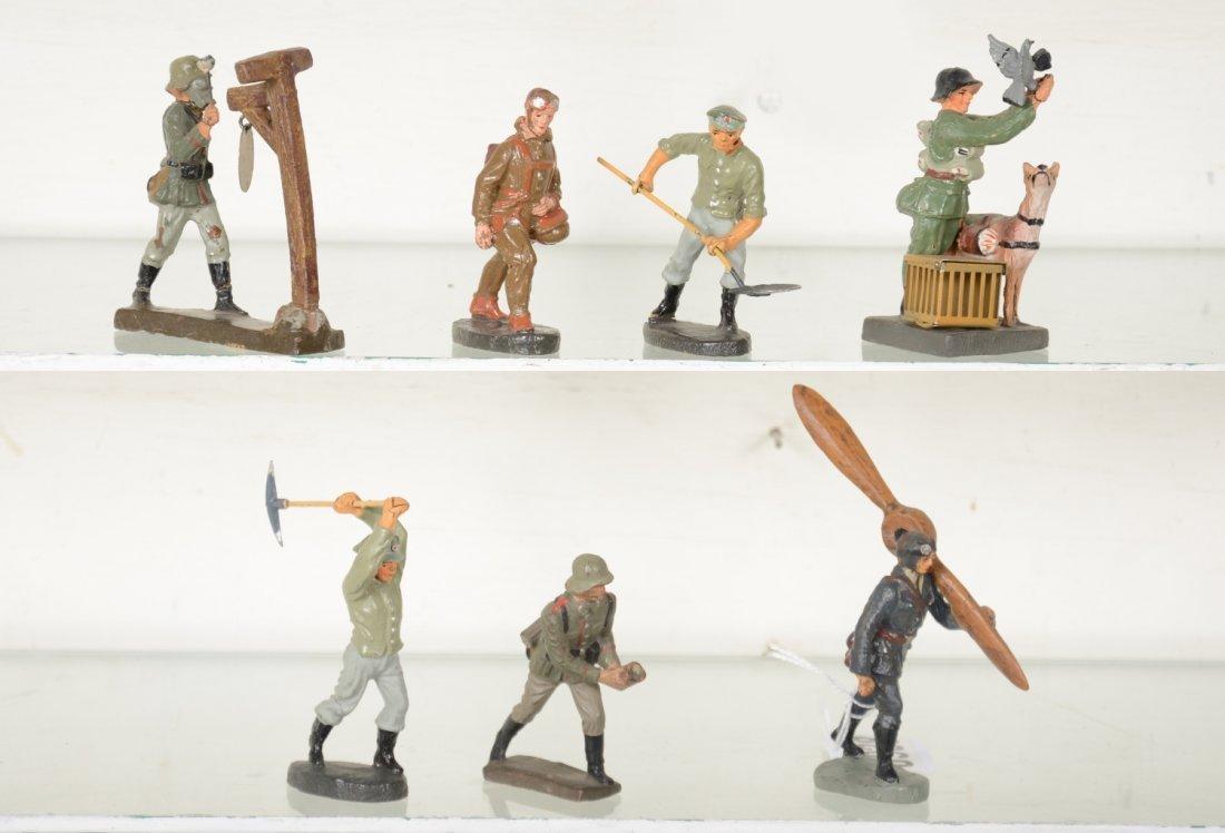 Scarce Elastolin German Soldiers