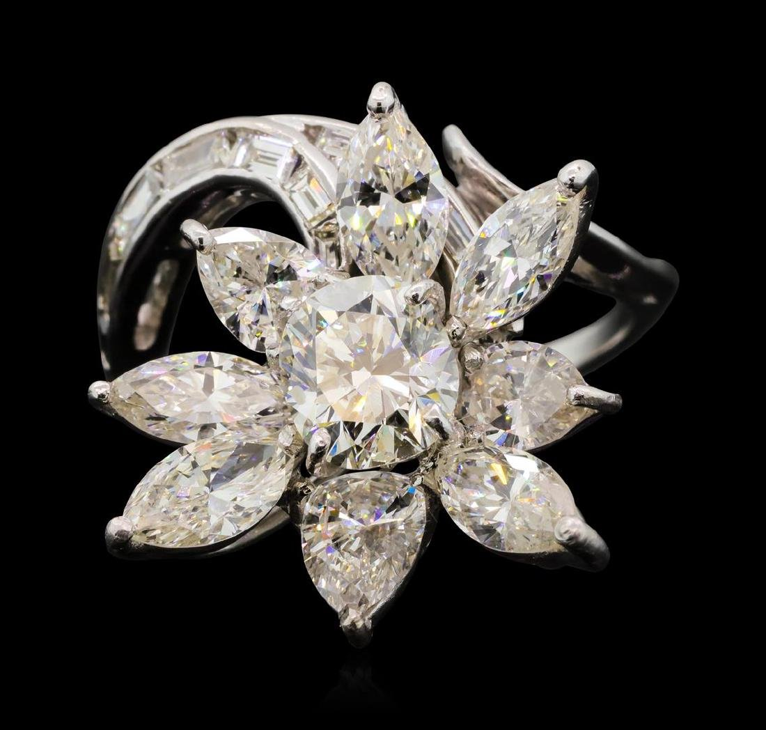 4.68 ctw Diamond Ring - Platinum - 2