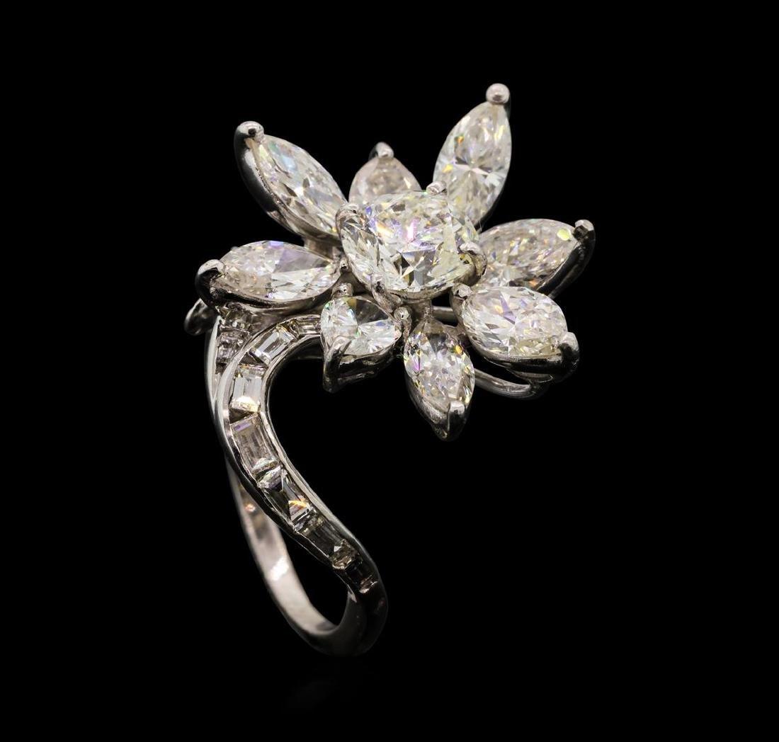 4.68 ctw Diamond Ring - Platinum - 4
