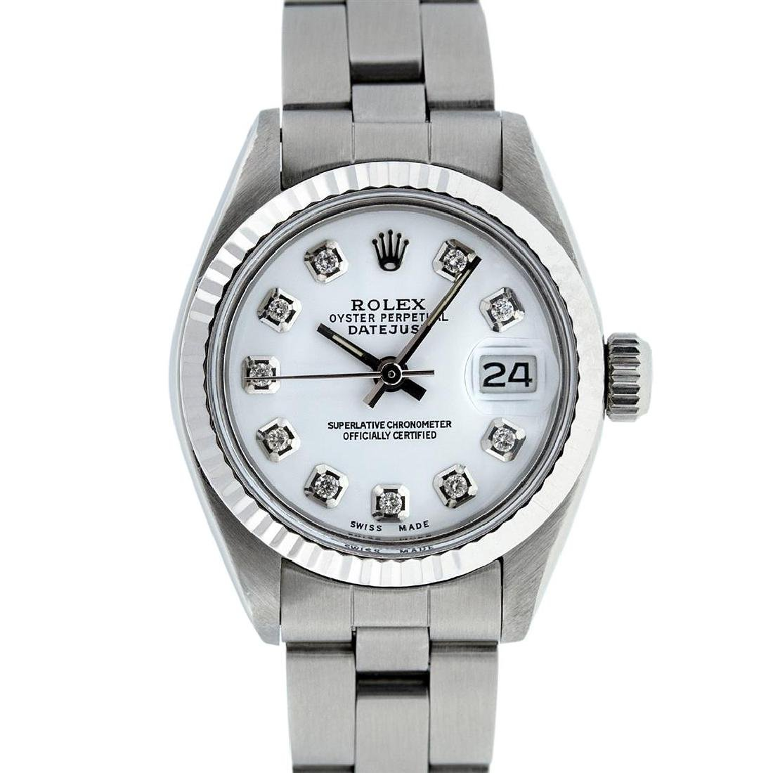Rolex Stainless Steel MOP Oyster Band DateJust Ladies