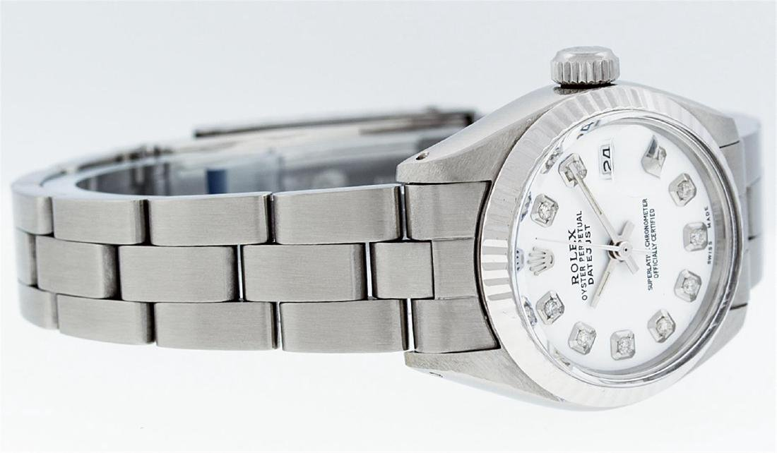 Rolex Stainless Steel MOP Oyster Band DateJust Ladies - 3