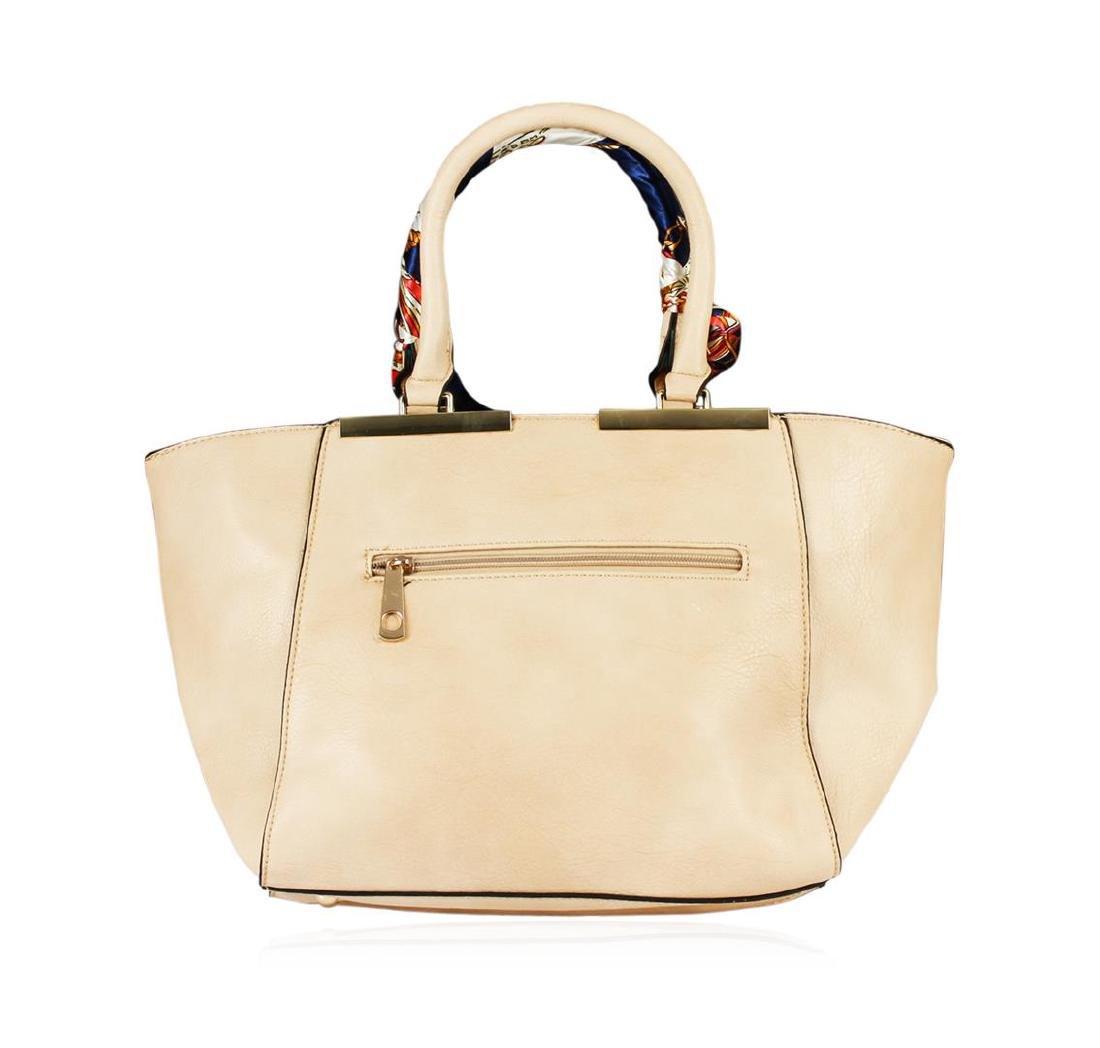 Lindsey Beige Embroidered Handbag - 2