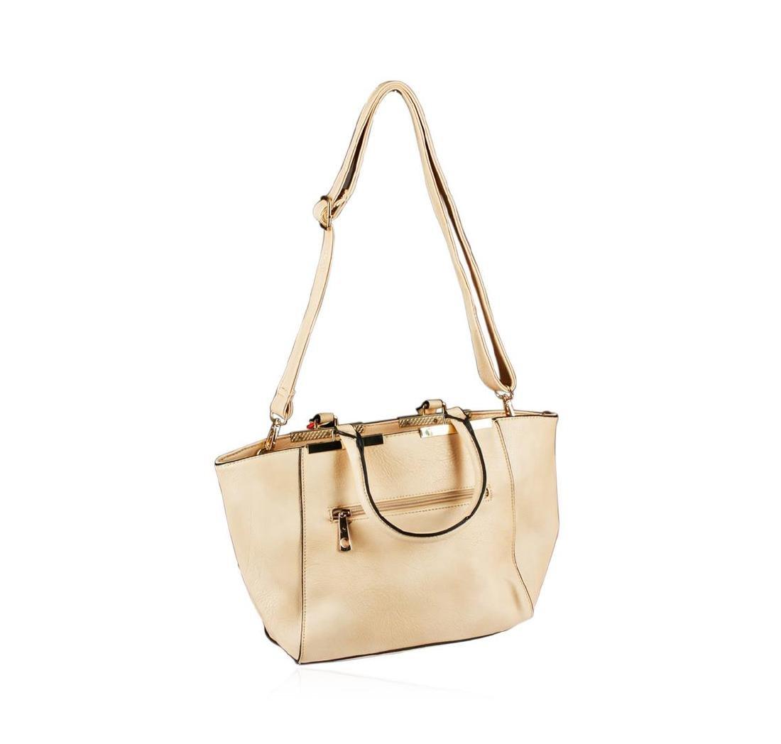 Lindsey Beige Embroidered Handbag - 3
