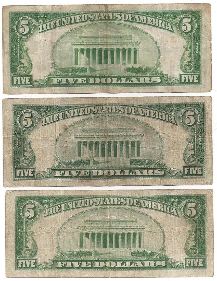 1934 $5 Bill Currency Lot of 6 - 2