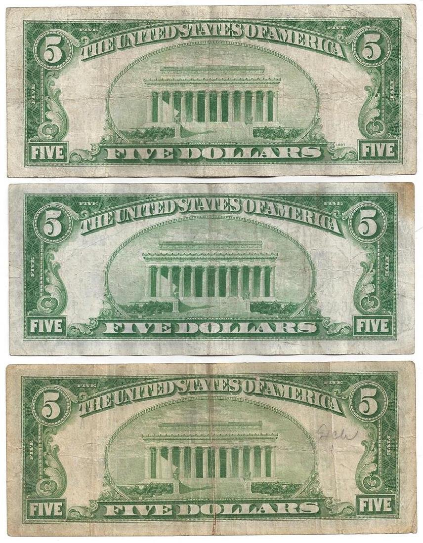 1934 $5 Bill Currency Lot of 6 - 4