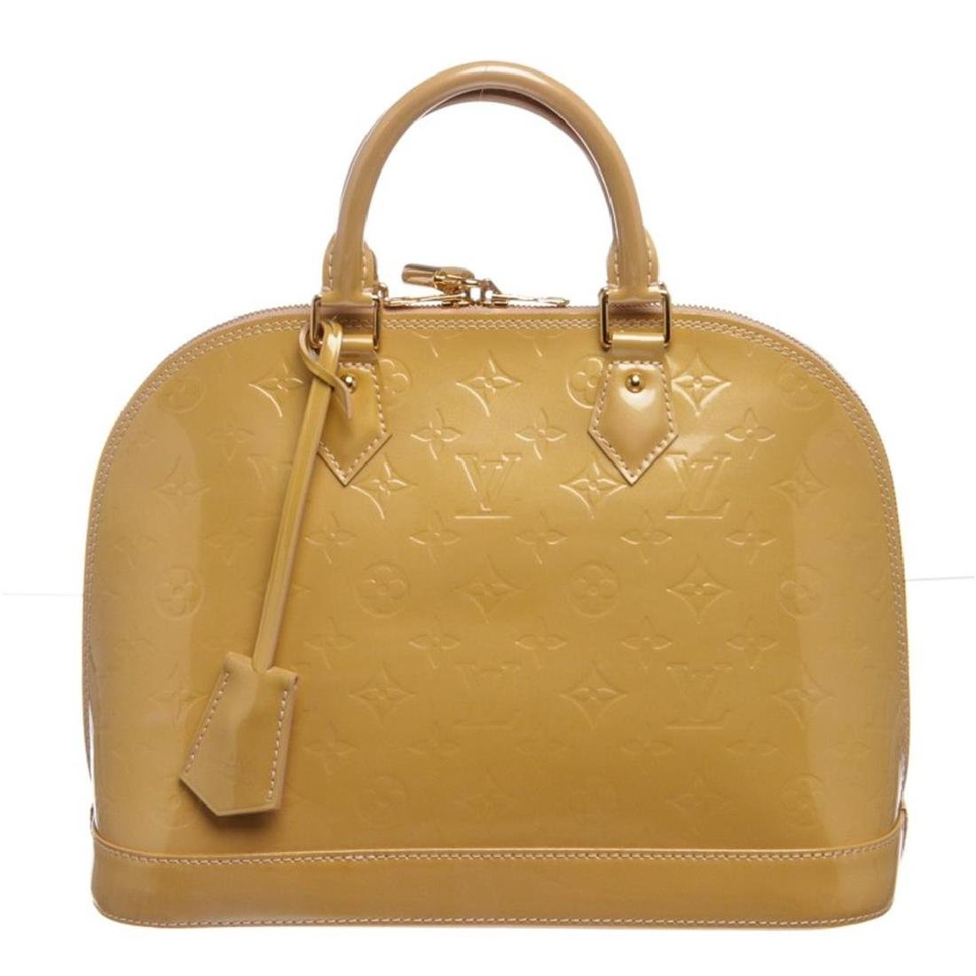 Louis Vuitton Yellow Vernis Leather Monogram Alma PM