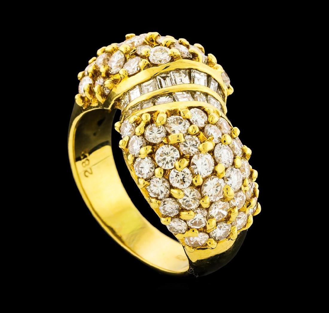 2.82 ctw Diamond Ring - 18KT Yellow Gold - 4