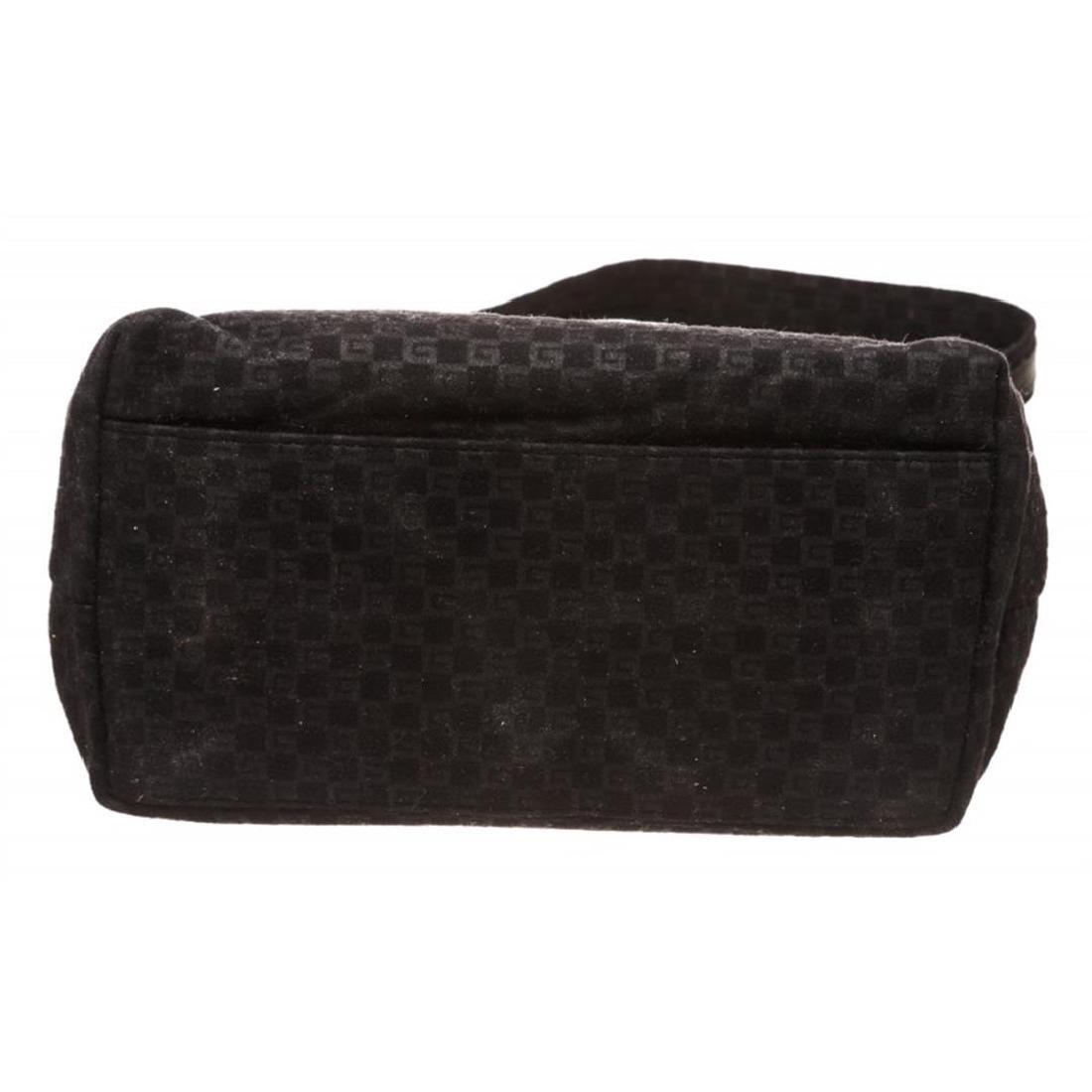 Gucci Black Felt Fabric G Logo Shoulder Bag - 4