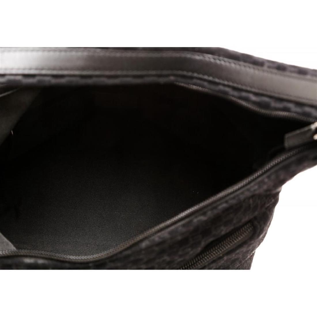 Gucci Black Felt Fabric G Logo Shoulder Bag - 5