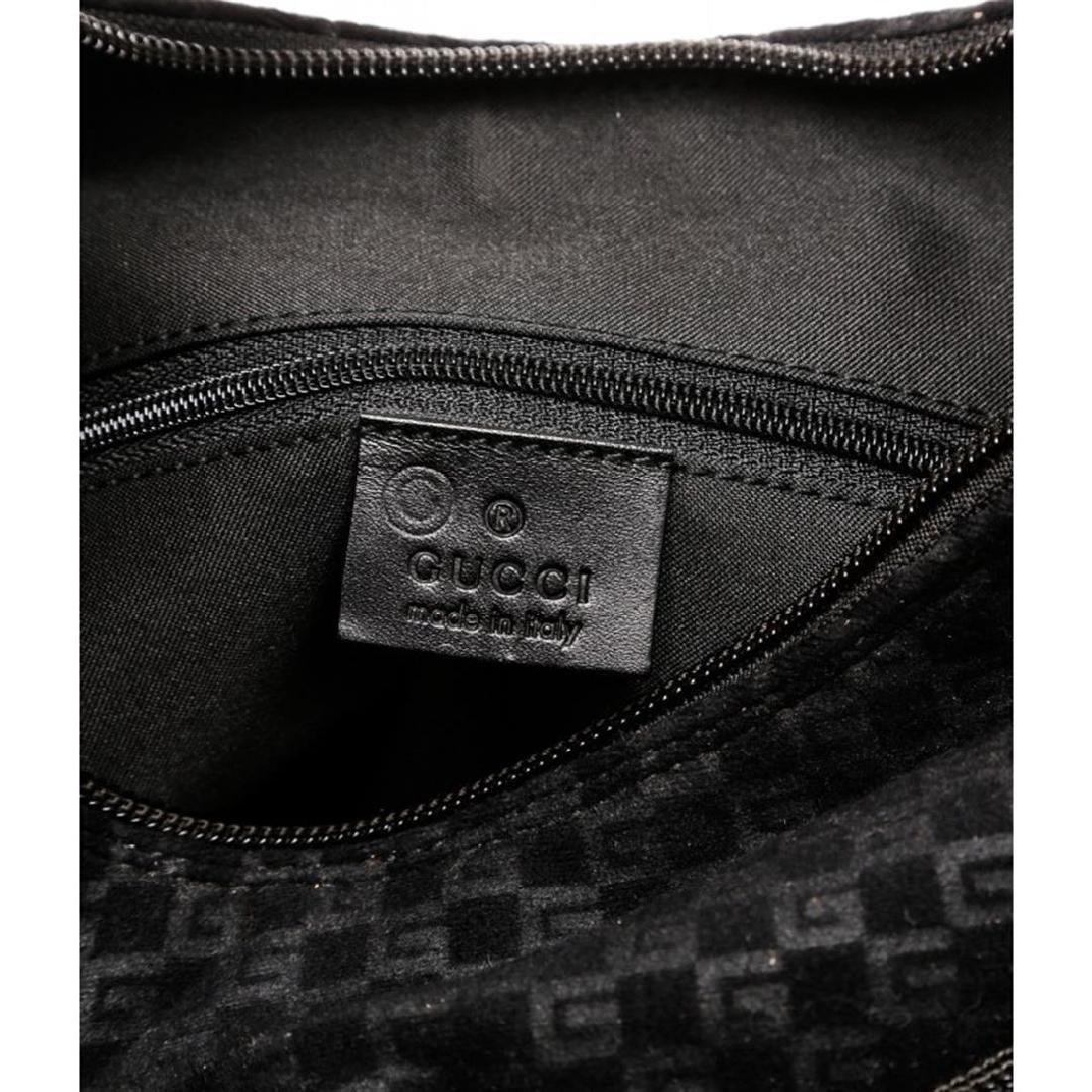 Gucci Black Felt Fabric G Logo Shoulder Bag - 6