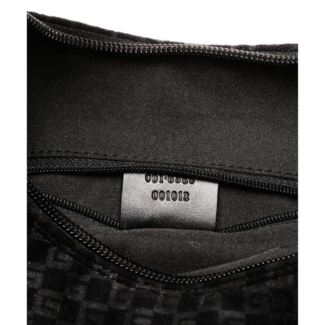Gucci Black Felt Fabric G Logo Shoulder Bag - 7