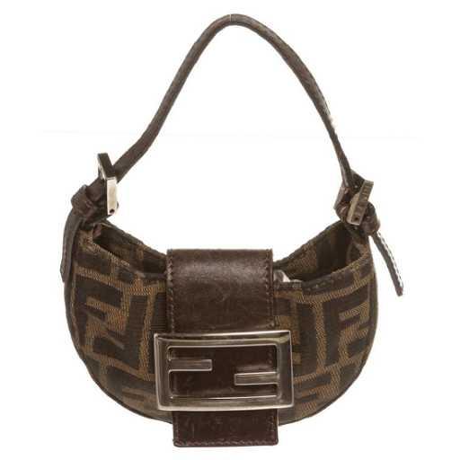 d39719f36ee4 Fendi Brown Tan Micro Zucca Baguette Bag
