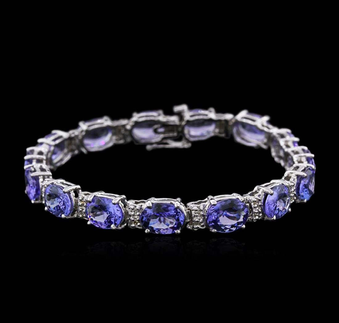 14KT White Gold 27.90 ctw Tanzanite and Diamond