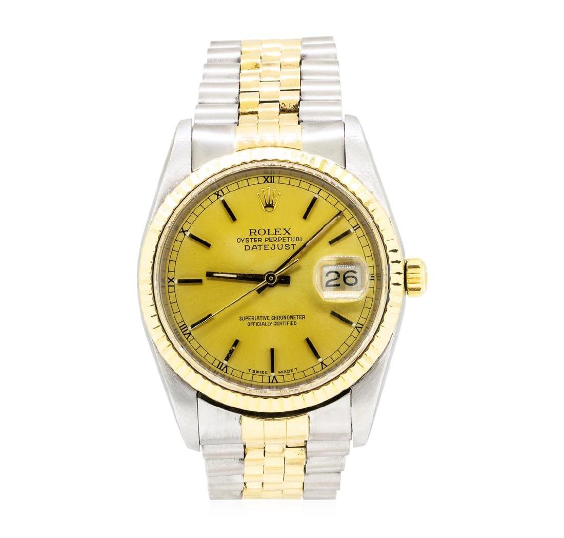 Rolex 18KT Yellow Gold and Stainless Steel Men's Oyster