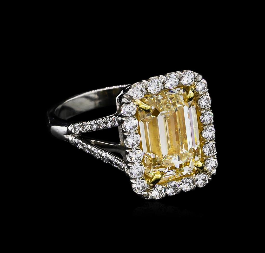 EGL USA Cert 5.84 ctw Fancy Yellow Diamond Ring -