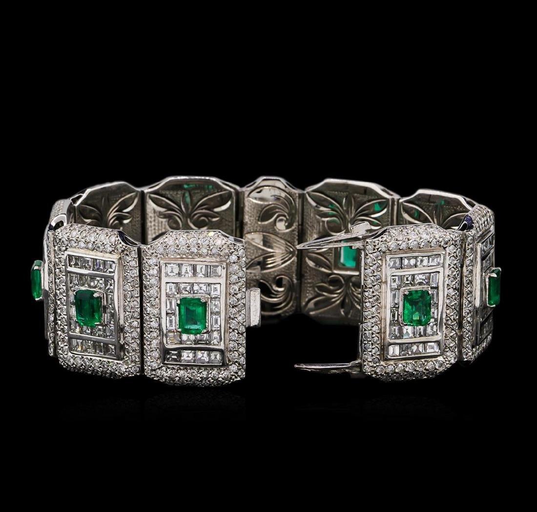 Platinum GIA Certified 9.37 ctw Emerald and Diamond - 2