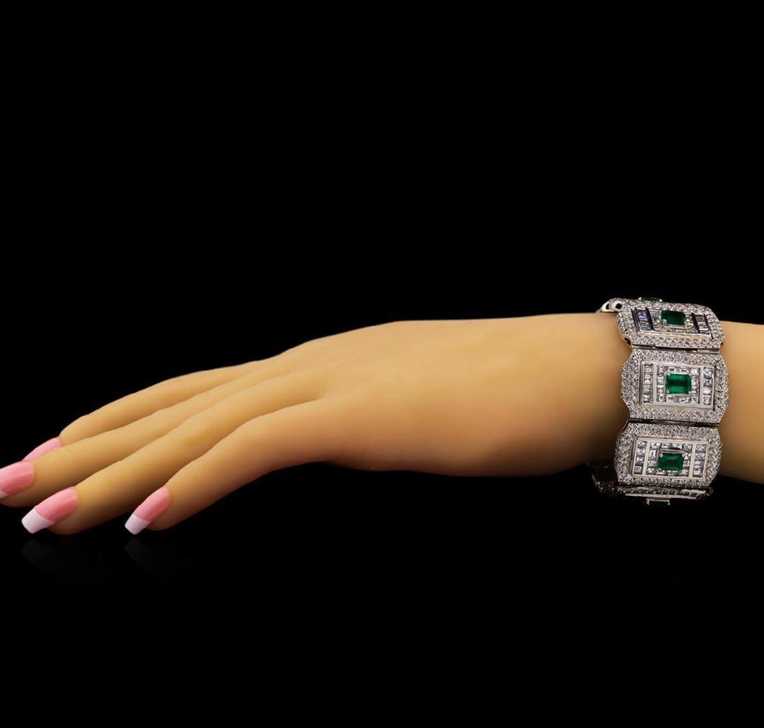 Platinum GIA Certified 9.37 ctw Emerald and Diamond - 3