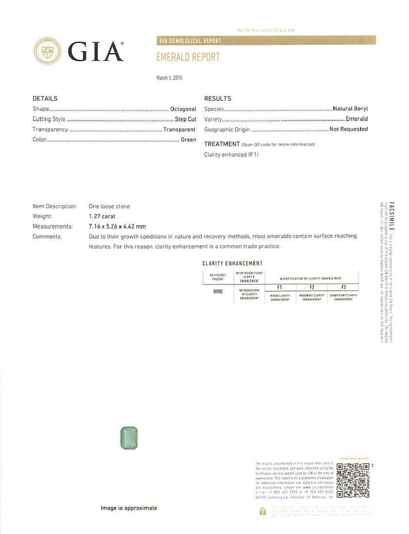 Platinum GIA Certified 9.37 ctw Emerald and Diamond - 6