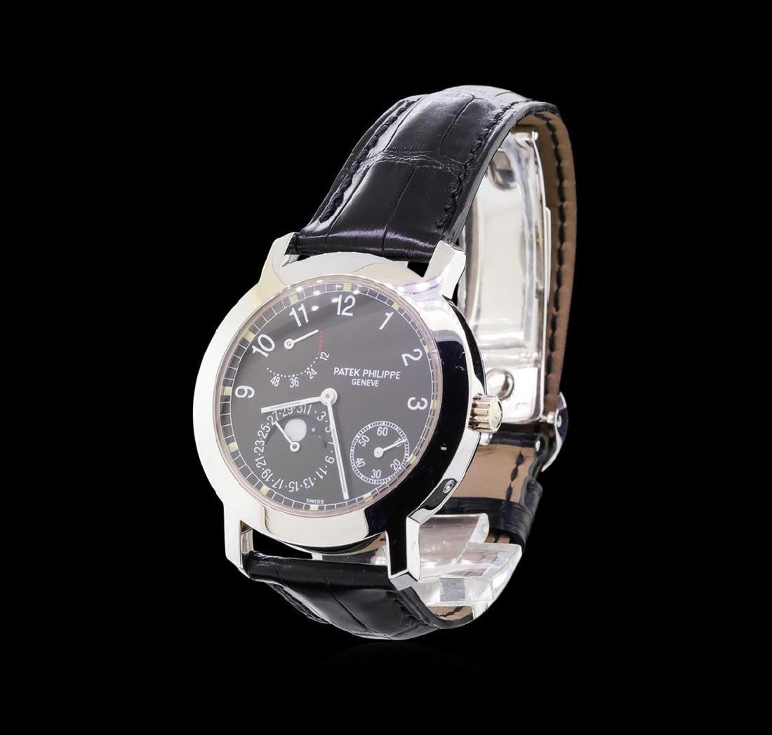 Patek Philippe Moonphase 18KT White Gold Watch - 2