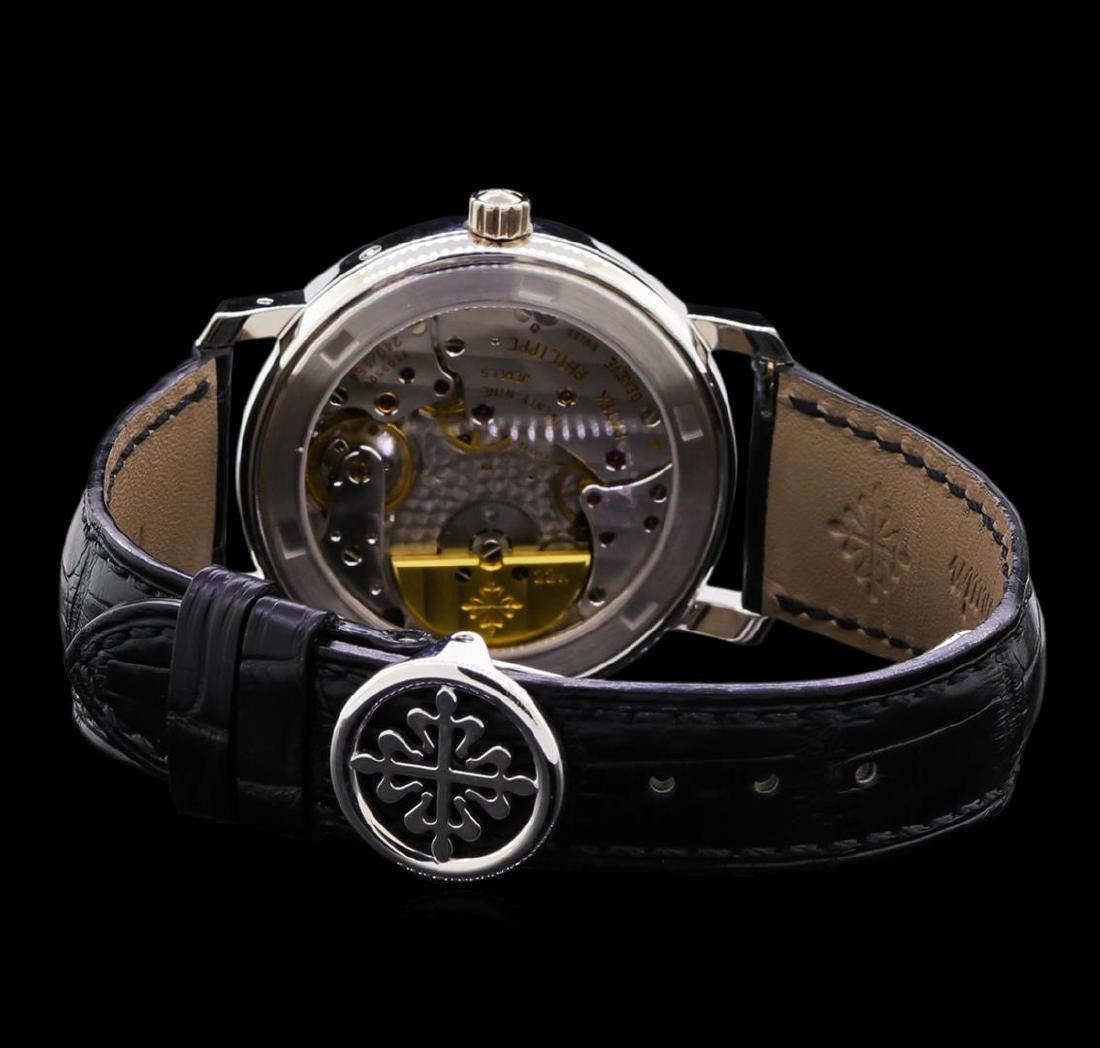 Patek Philippe Moonphase 18KT White Gold Watch - 3